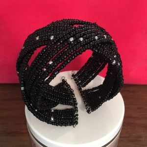 Black Stretch Bead Bracelet